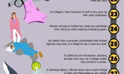 「信じられない」世界の自動車の法律50