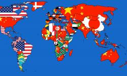 各国最大の輸入国を世界地図に