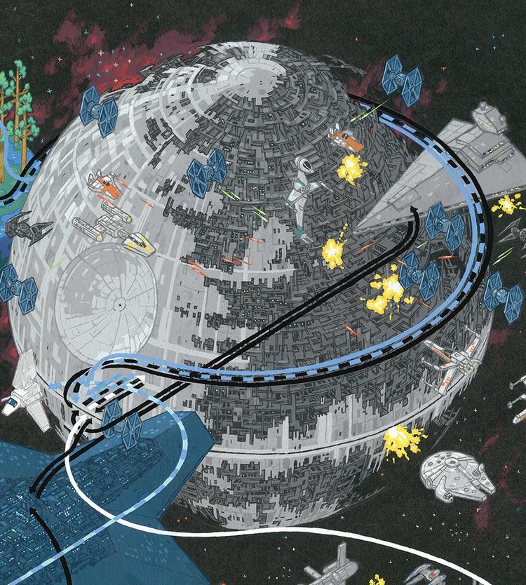 インフォグラフィック:スター・ウォーズ各キャラクターの軌跡。全16エリアが舞台に2/7