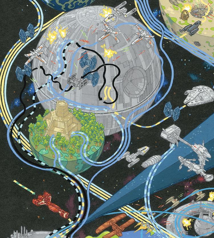 インフォグラフィック:スター・ウォーズ各キャラクターの軌跡。全16エリアが舞台に4/7