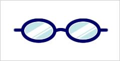 代表的なメガネフレーム:オーバル型