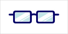 代表的なメガネフレーム:スクエア型