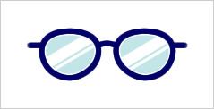代表的なメガネフレーム:ボストン型