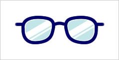 代表的なメガネフレーム:ウェリントン型