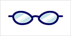 代表的なメガネフレーム:フォックス型