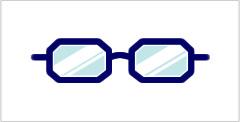 代表的なメガネフレーム:オクタゴン型